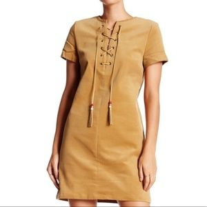 Romeo & Juliet Couture Corduroy Lace Up Dress